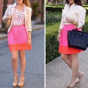 J crew factory mini skirt size 6 pink/Orange